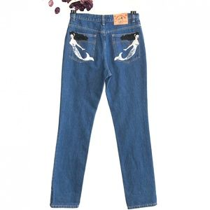 ⬇️$179 Marc Jacobs Embroidered Mermaid Patch Jeans
